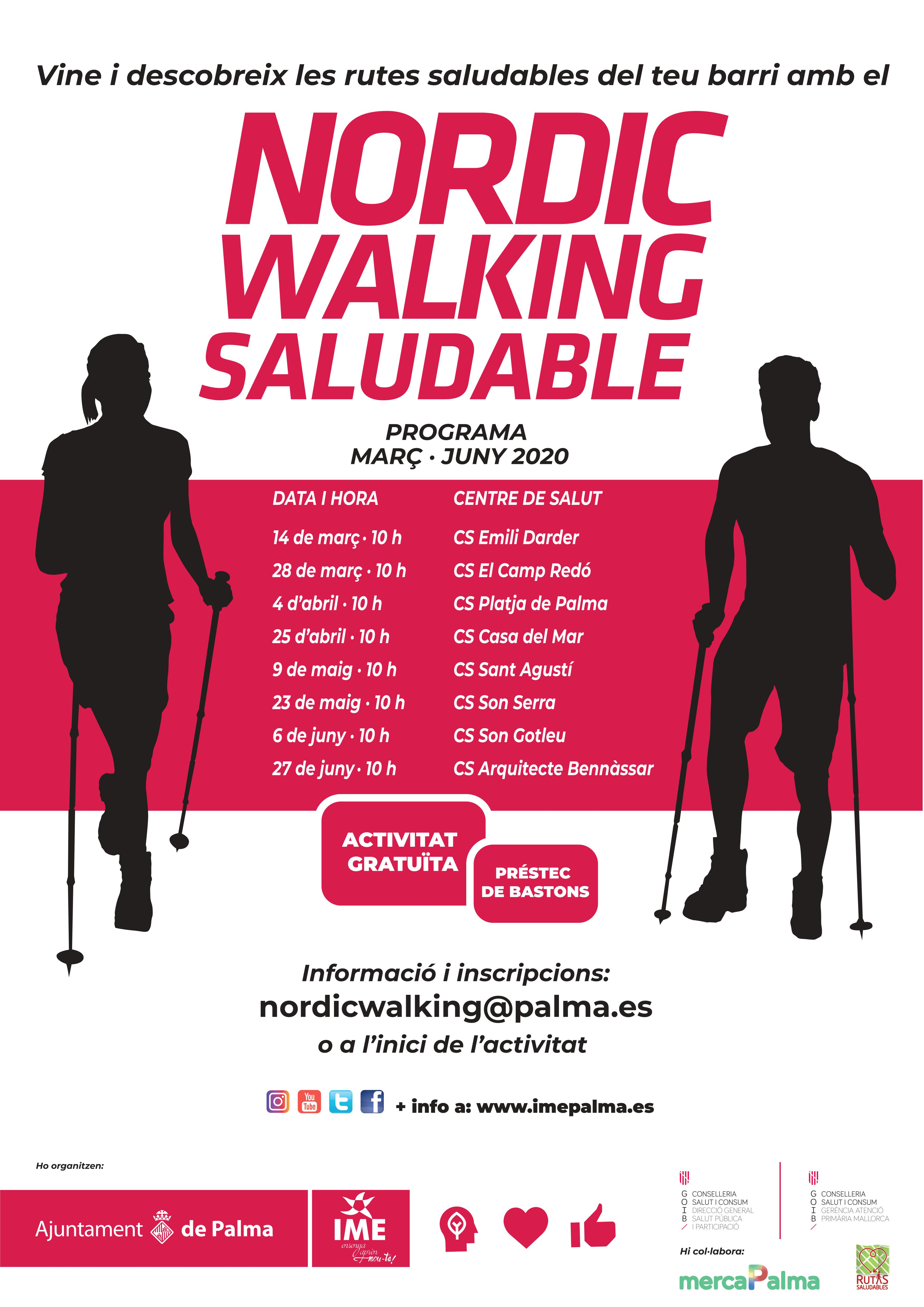 Nordic Walking Saludable (març-juny 2020 )